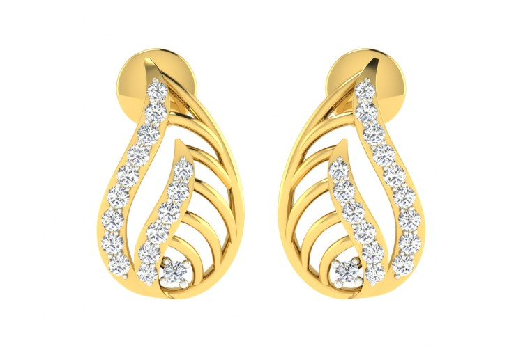 Leza Diamond Earrings in Gold